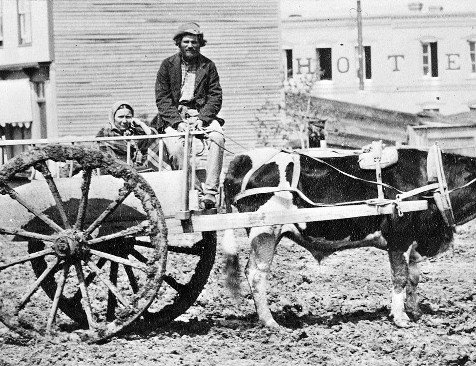 Métis with Red River cart