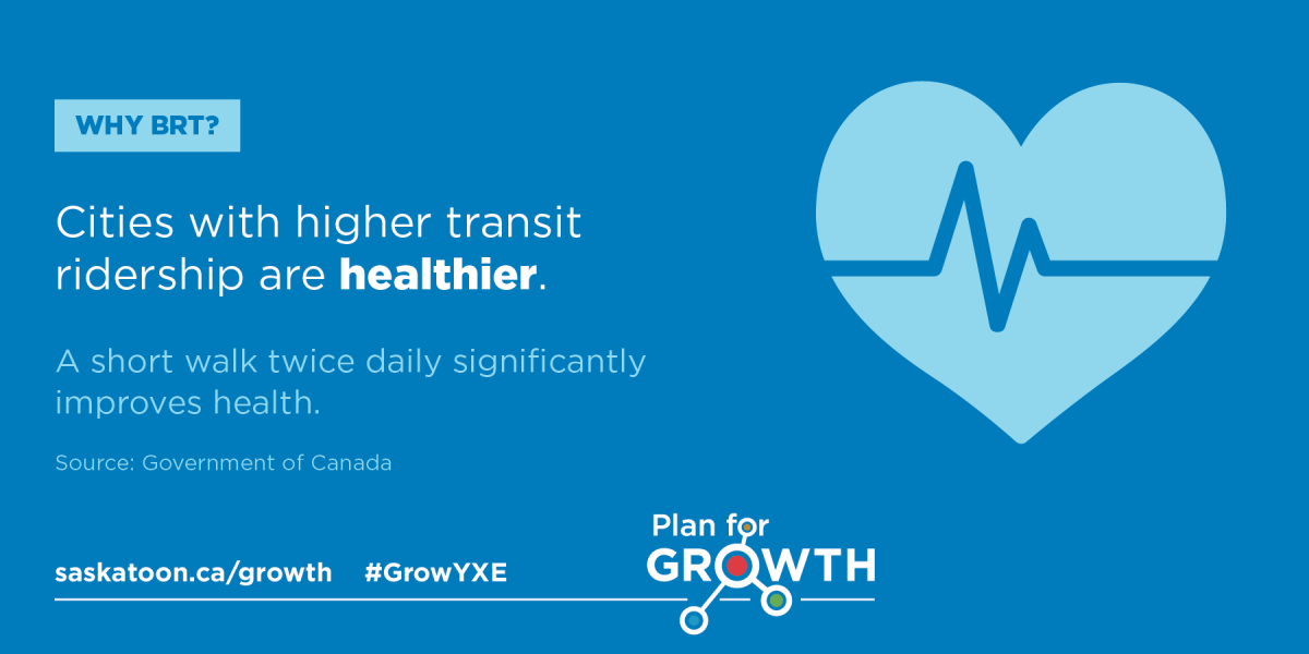 BRT Fact Card #3 - Cities with higher transit ridership are healthier.
