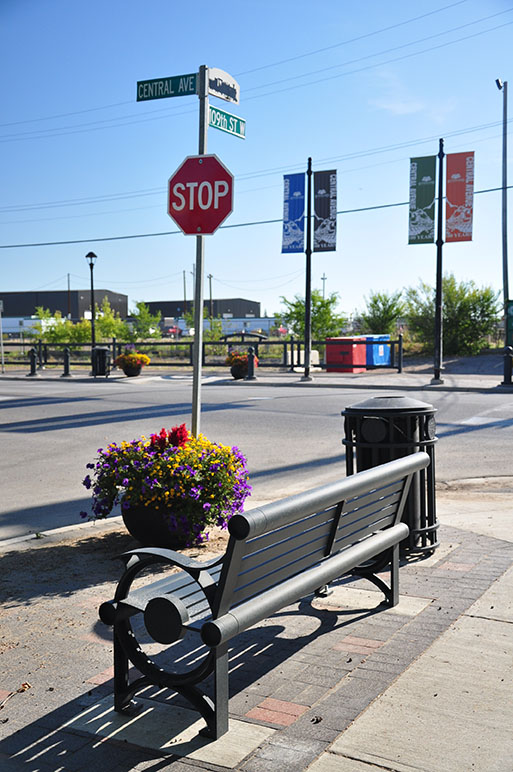street furniture at Central Avenue and 110th Street