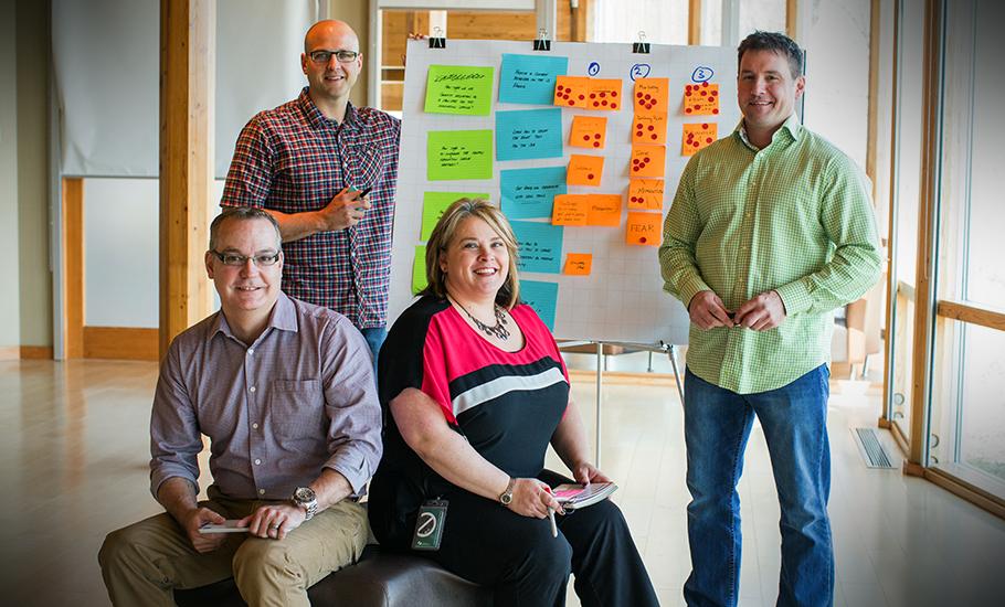 Innovation League team members (L-R) Kim Matheson, Daniel Tkatchuk, Dylan Czarnecki and Craig Senick
