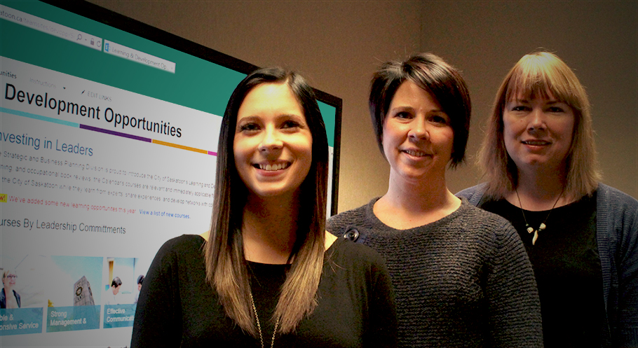 From left to right: Taralyn Horsfall, Heather Newell, Sarah Mathiason.
