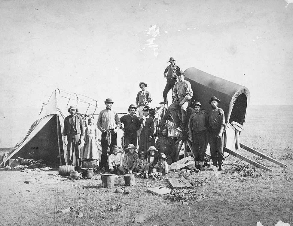 Métis Traders with members of the North American Boundary Commission