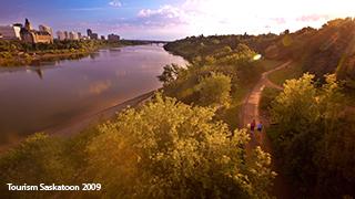 Saskatoon riverbank