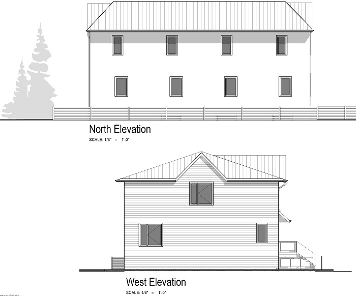 Building Elevation - north