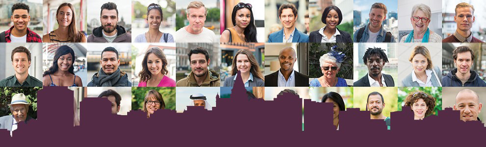Pictures of  diverse people who can apply for boards and commitees.