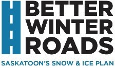 Better Winter Roads - Saskatoon's Snow & Ice Plan logo