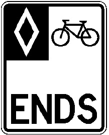 Protected Bike Lane Ends