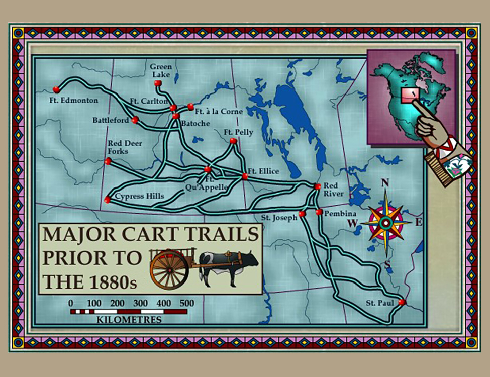 Major Cart Trails Prior to the 1800s