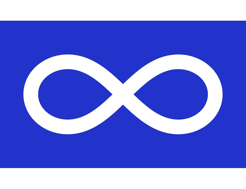 Blue Métis Infinity Flag