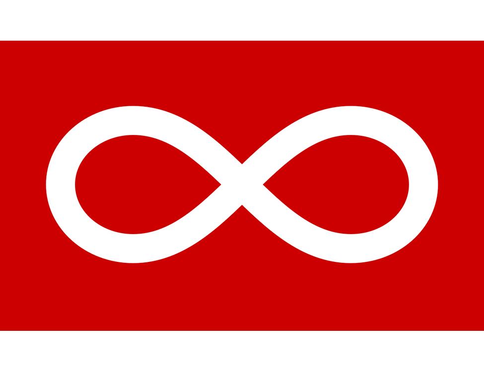Red Métis Infinity Flag