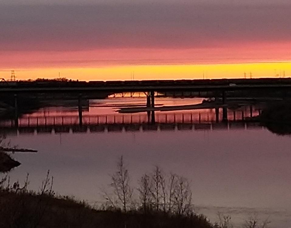 Photo of bridge in evening