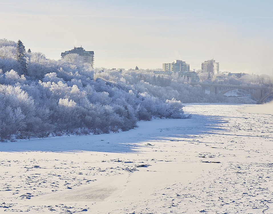 Frosty Riverbank