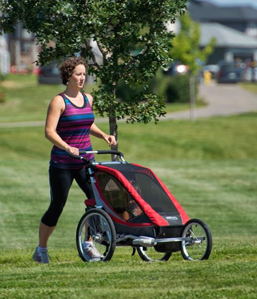 Aspen Ridge woman pushing stroller
