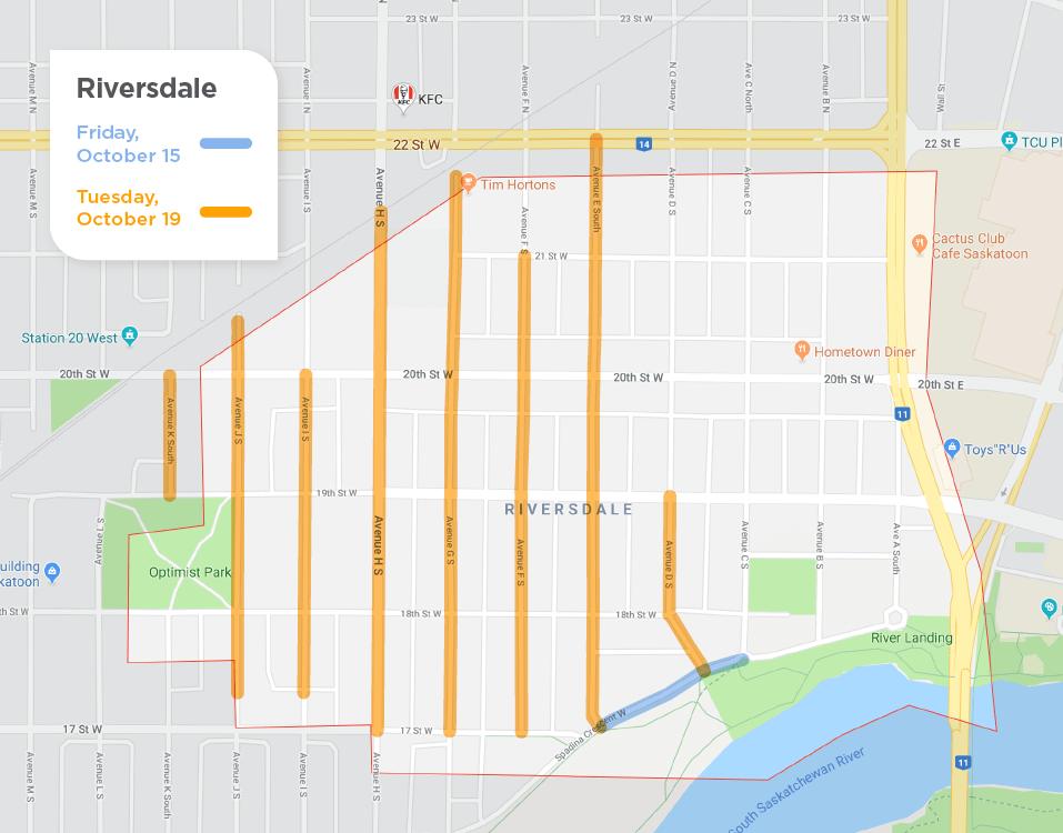 Riversdale fall street sweeping schedule