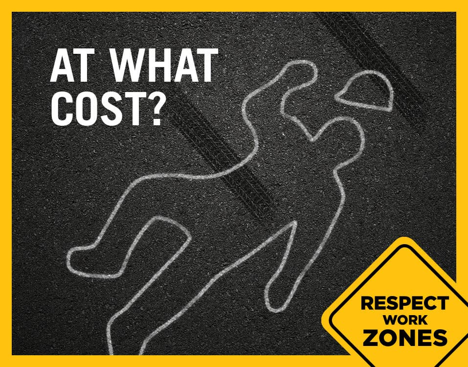 Respect Work Zones Chalk Outline
