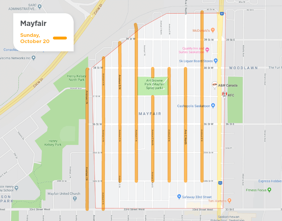 Mayfair fall street sweeping schedule