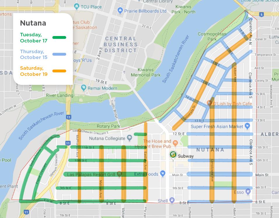 Nutana fall street sweeping schedule